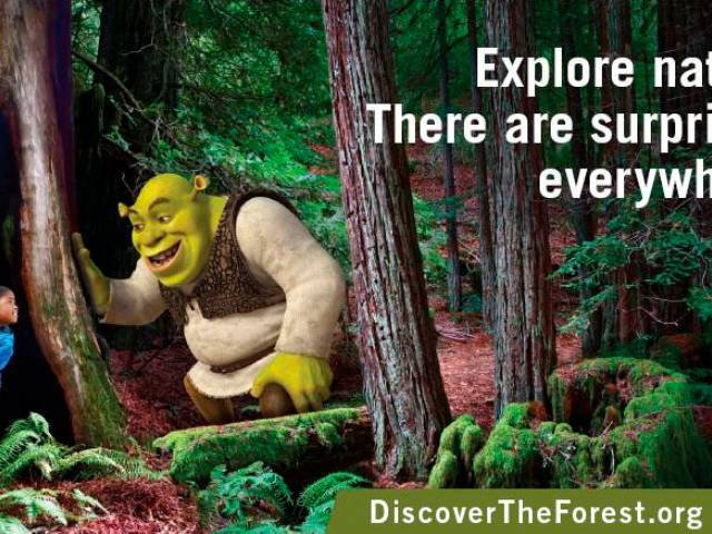 Shrek to Help Get Children Outside and Re-connected with Nature