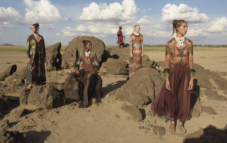 The African-inspired collection for the upcoming season was lensed by Steve McCurry, famed for his 'Afghan Girl' photo